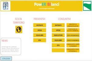 Schermata di Power Bilanci